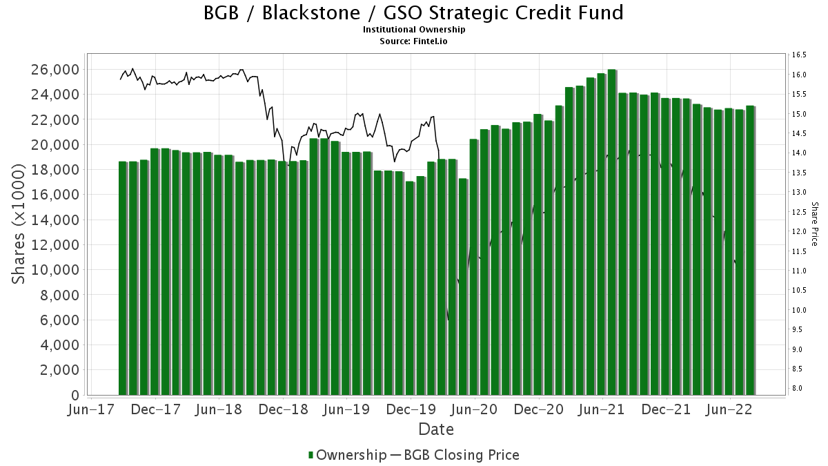BGB / Blackstone / GSO Strategic Credit Fund Institutional Ownership