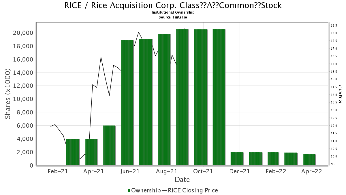 RICE / Rice Energy Inc. Institutional Ownership